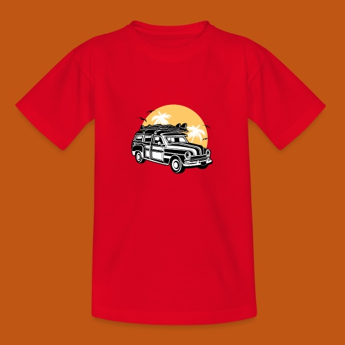 Chevy Cadilac Woodie / Oldtimer Kombi 01_3c - Teenager T-Shirt
