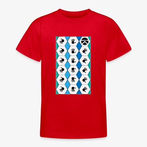 |K·CLOTHES| HEXAGON ESSENCE BLUES & WHITE - Camiseta adolescente