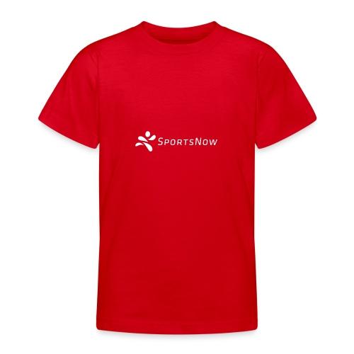 SportsNow-Logo Weiss - Teenager T-Shirt
