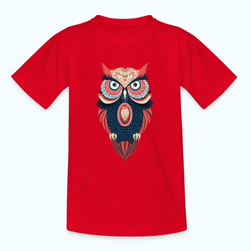 Hippie owl - Teenage T-Shirt