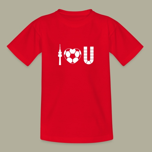 Dortmund I Love U - Teenager T-Shirt