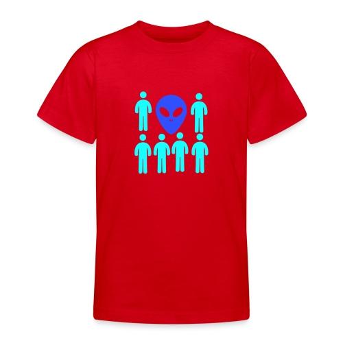 Extraterestre y Humano - Camiseta adolescente