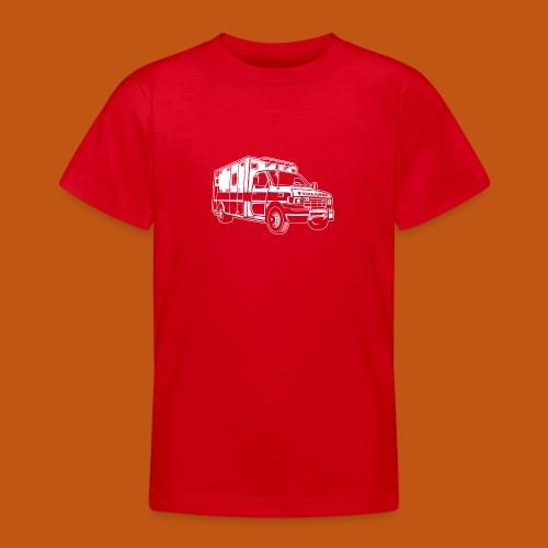Krankenwagen / Rettungswagen 01_weiß - Teenager T-Shirt
