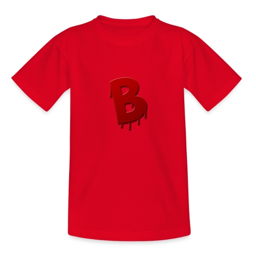 4k logo rood - Teenager T-shirt