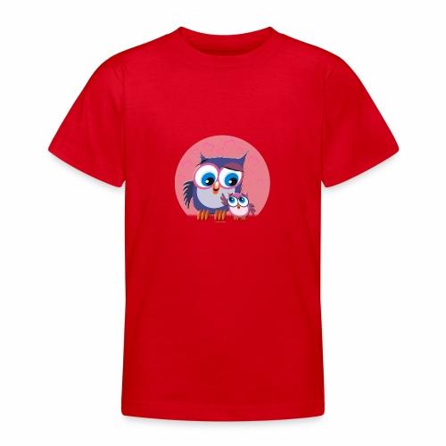 10-31 OWLS LOVE - PÖLLÖT, Äiti ja lapsipöllö - Nuorten t-paita