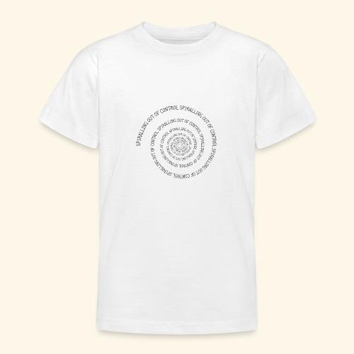 SPIRAL TEXT LOGO BLACK IMPRINT - Teenage T-Shirt