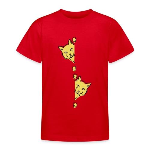 Två gula katter - T-shirt tonåring