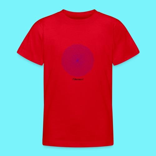 Fibonacci webs in purple - Teenage T-Shirt