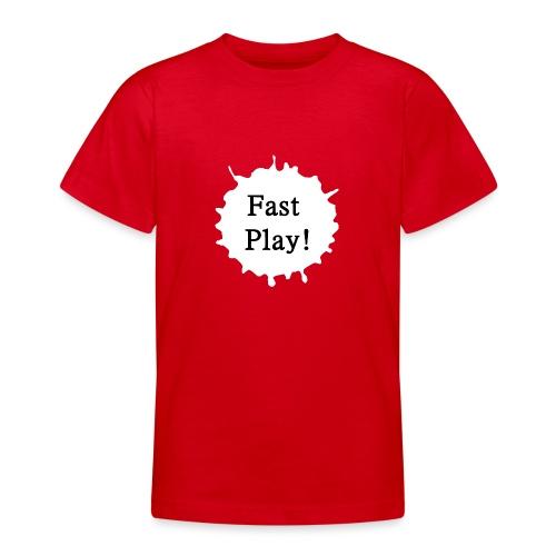 Fast play weiß - Teenager T-Shirt