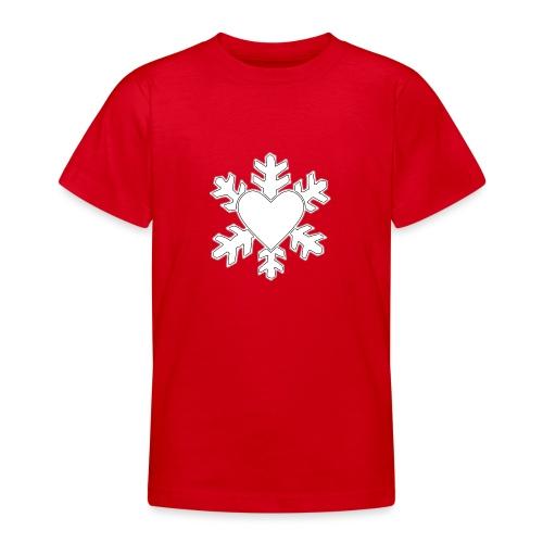 Flocon coeur 3D - T-shirt Ado
