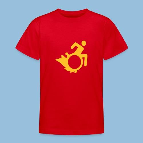 Roller met vlammen 004 - Teenager T-shirt