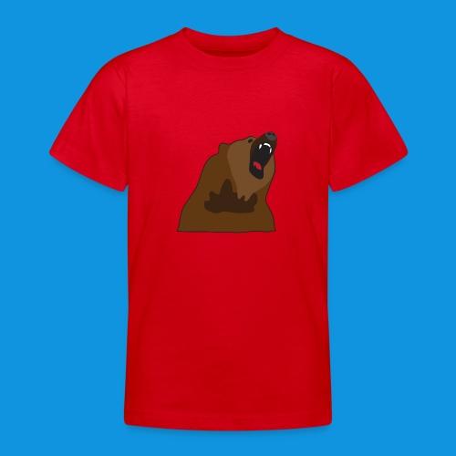 Growling Bear - Teenage T-Shirt