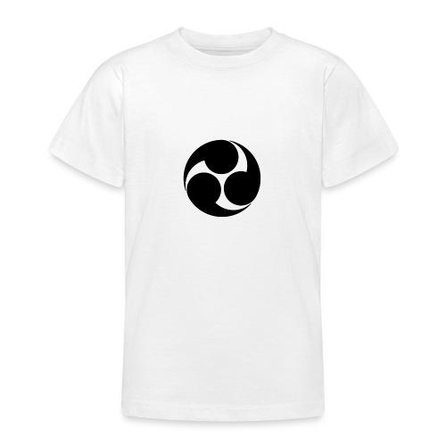 Kobayakawa Mon Japanese clan black - Teenage T-Shirt