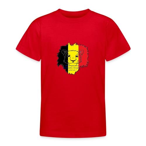 Lion supporter Belgique - T-shirt Ado