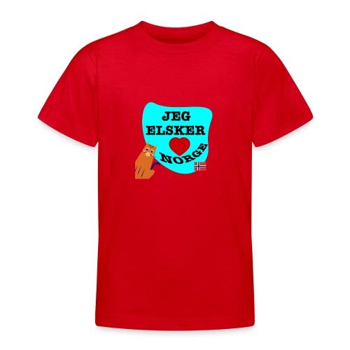 Jeg elsker Norge - T-skjorte for tenåringer