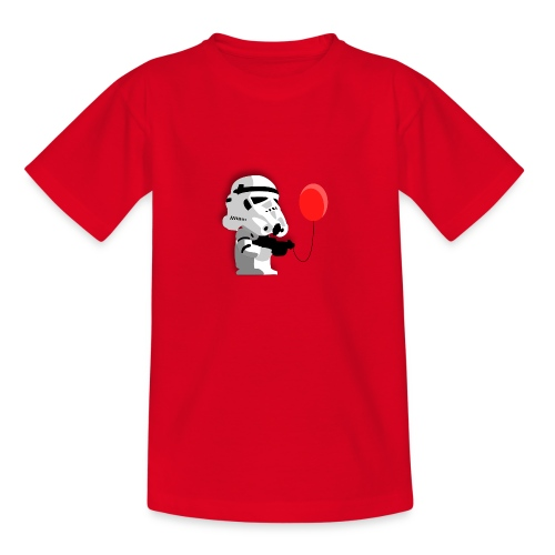 Stormtrooper mit Luftballon - Teenager T-Shirt