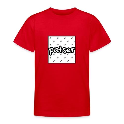 Patser - Basic Print White - Teenager T-shirt