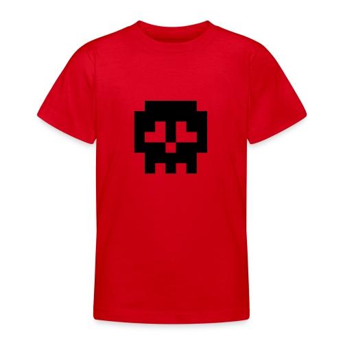 Retro Gaming Skull - Teenage T-Shirt