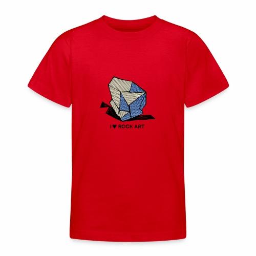 I LOVE ROCK ART No 1 colour - Teenager T-shirt