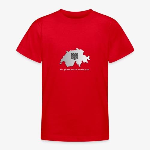Schweiz & Albanien WM Shirt - Teenager T-Shirt