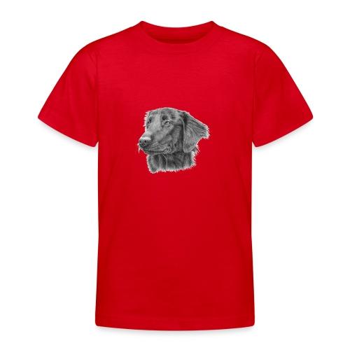 flatcoated retriever bw - Teenager-T-shirt