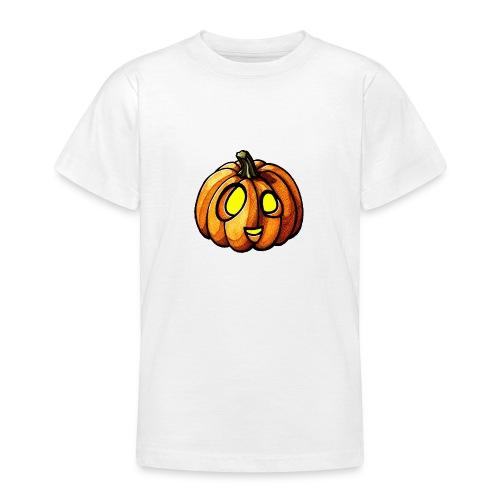 Pumpkin Halloween watercolor scribblesirii - Nuorten t-paita