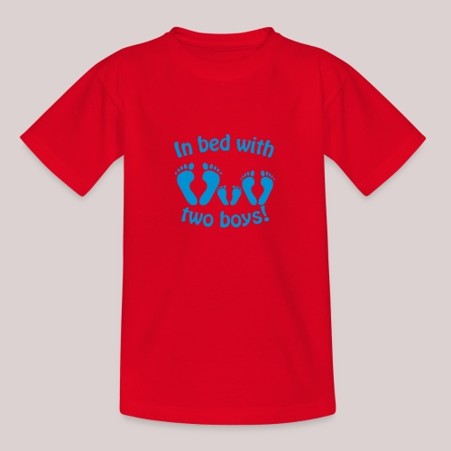 In bed with two boys - Im Bett mit zwei Jungs - Teenager T-Shirt