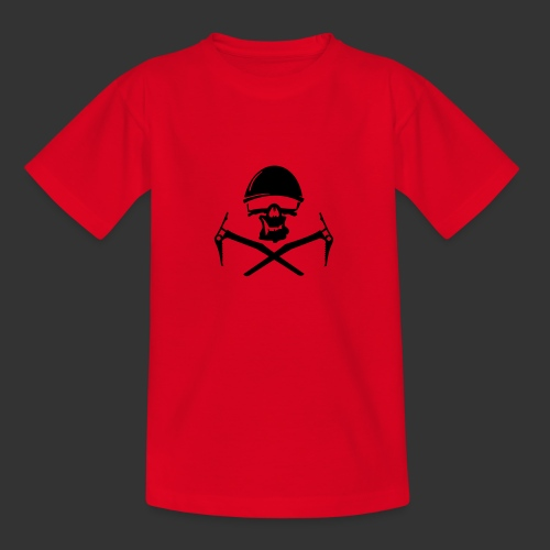 Climbing Skull - Teenager T-Shirt