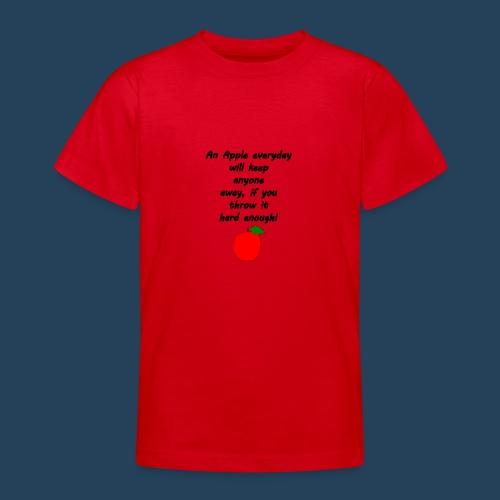 Lustiger Apfelspruch - Teenager T-Shirt