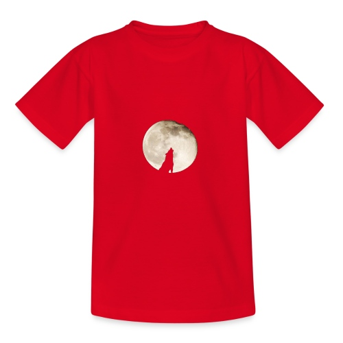 The wolf with the moon - T-shirt Ado