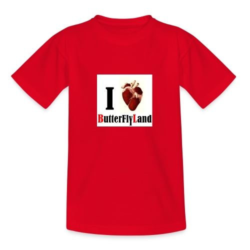 I love Butterflyland - T-shirt Ado