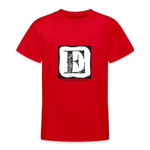 Logo ErrareUmano (scritta nera) - Maglietta per ragazzi