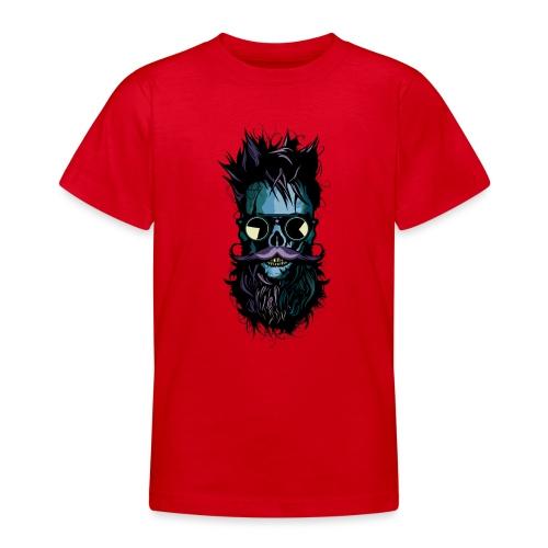 tete de mort lunette hipster crane skull soleil ba - T-shirt Ado