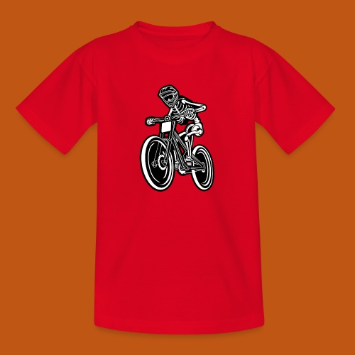 BMX / Mountain Biker 04_schwarz weiß - Teenager T-Shirt