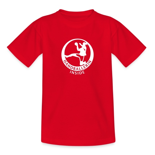 Handballerin inside - Teenager T-Shirt