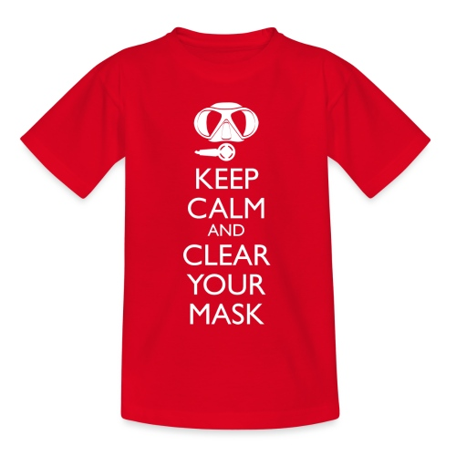 Keep Calm and clear your Mask Männer Tank Top - Teenager T-Shirt