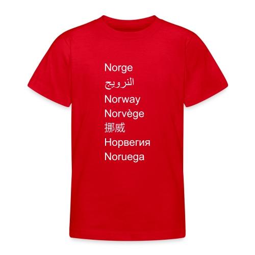 FN-Norge - plagget.no - T-skjorte for tenåringer