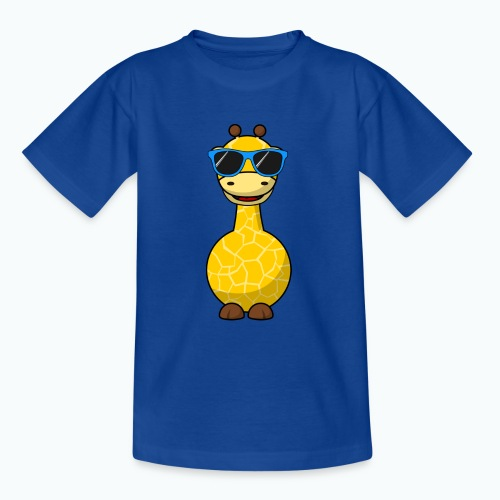 Gigi Giraffe with sunglasses - Appelsin - T-shirt tonåring