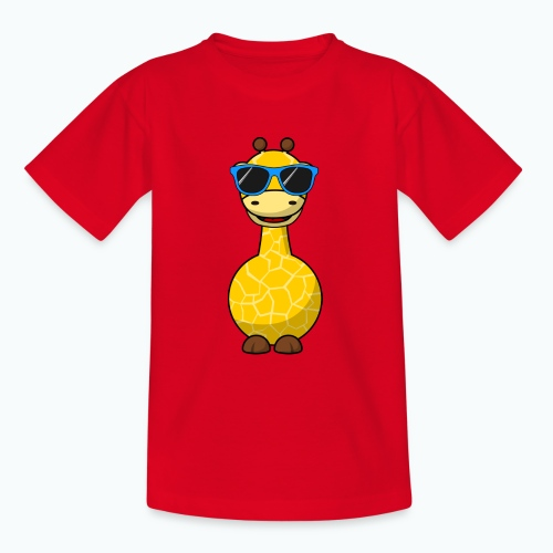 Gigi Giraffe with sunglasses - Appelsin - T-shirt tonåring