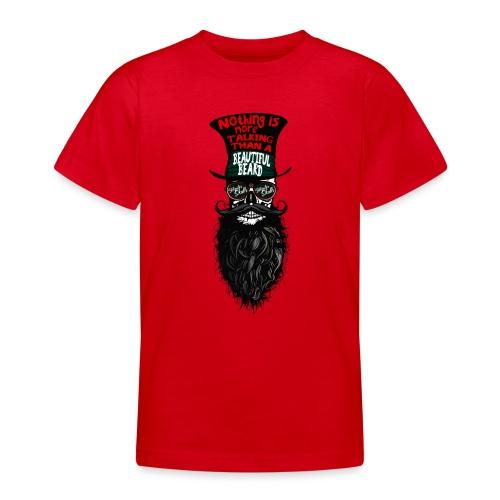 tete de mort hipster chapeau crane skull citation - T-shirt Ado