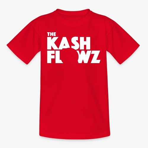 The Kash Flowz Official Logo White - T-shirt Ado