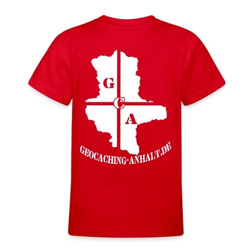 Logo schwarz mit URL - Teenager T-Shirt