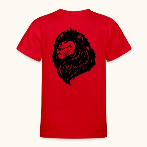 Lions tête fièrement élevés avec crinière noire - T-shirt Ado