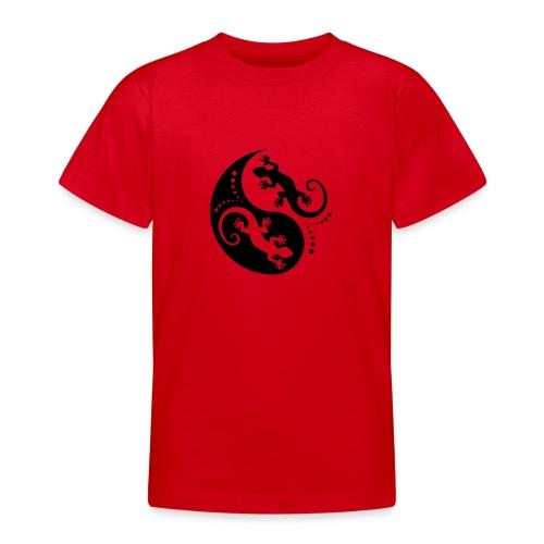 YIN & YANG Geckos black - Teenager T-Shirt