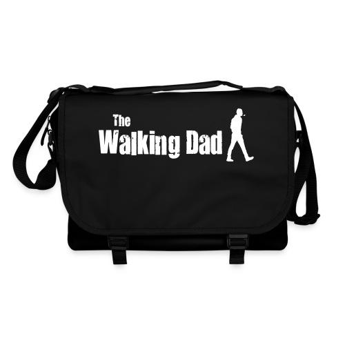 the walking dad white text on black - Shoulder Bag
