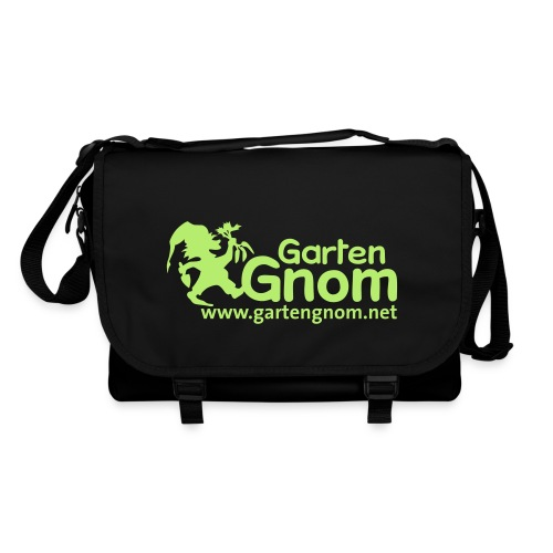GartenGnom Logo mit Webadresse klein - Umhängetasche