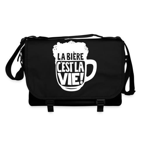 bière, la bière c'est la vie - Sac à bandoulière