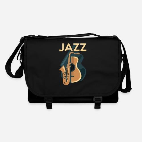 Jazz Gitarre mit Saxophon - Umhängetasche