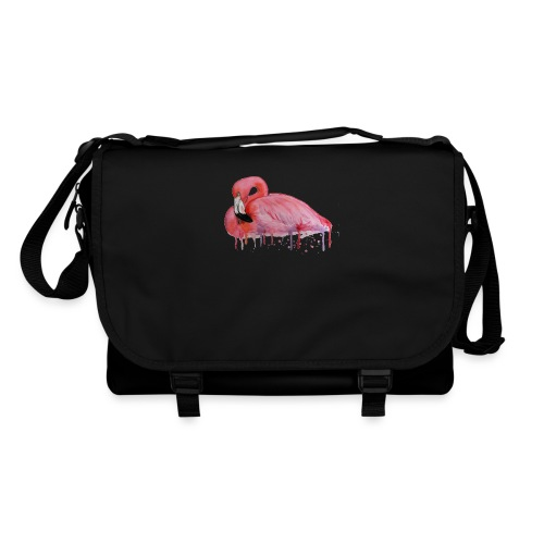 Pink Flamingo Watercolors Nadia Luongo - Tracolla