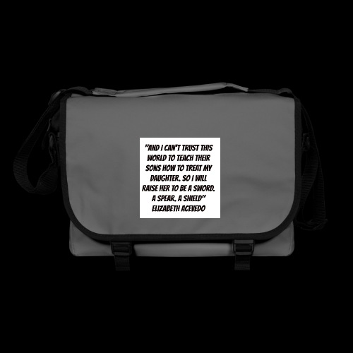 Quote by Elizabeth Acevedo - Shoulder Bag